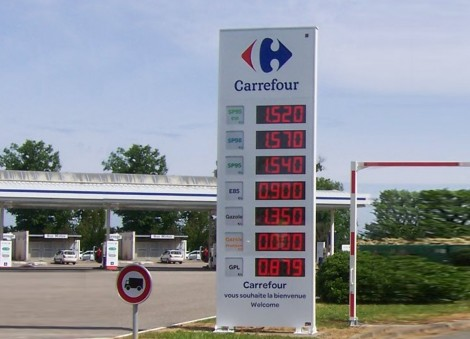 TOTEM AFFICHEUR CARBURANTS